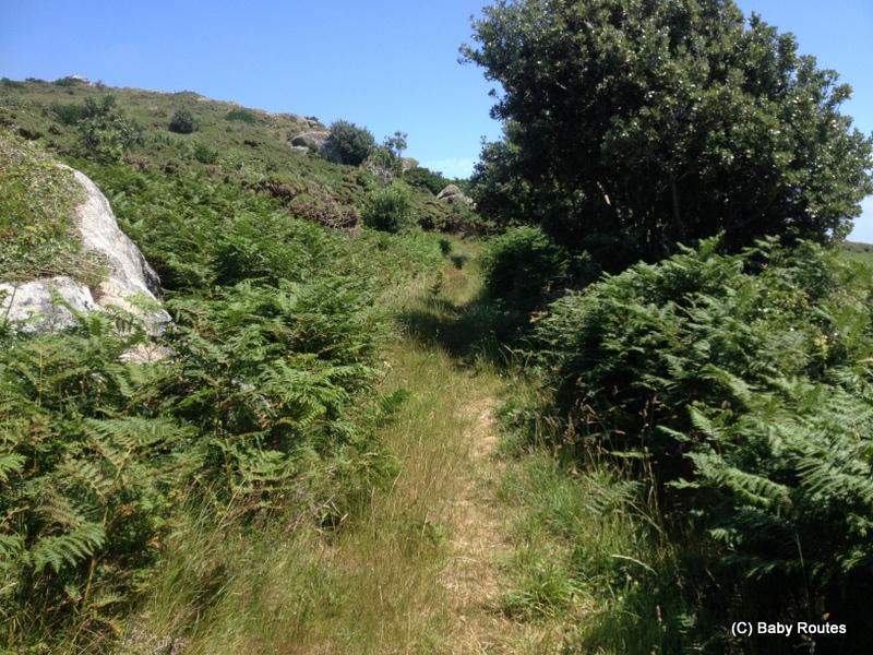 Up Samson Hill, Bryher Round Island Walk, Walks with Children, Isles of Scilly, Baby Routes