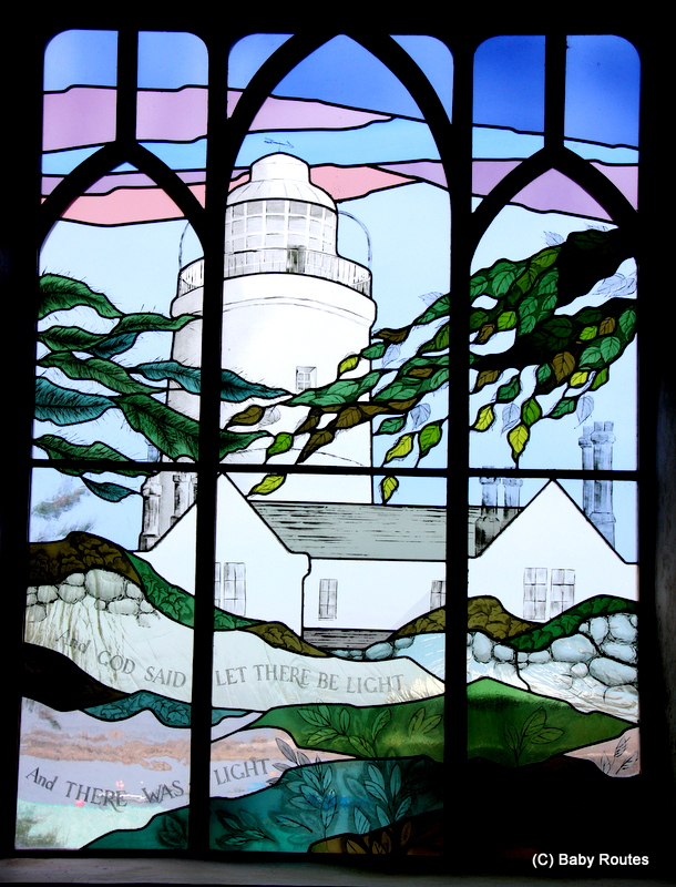 Light House Stained Glass Window, St. Agnes, Painting with Oriel Hicks at The Phoenix Craft Studios, Baby Routes
