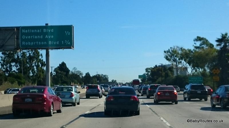 LA traffic, California