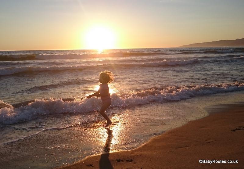 The beach at Santa Monica, LA, California