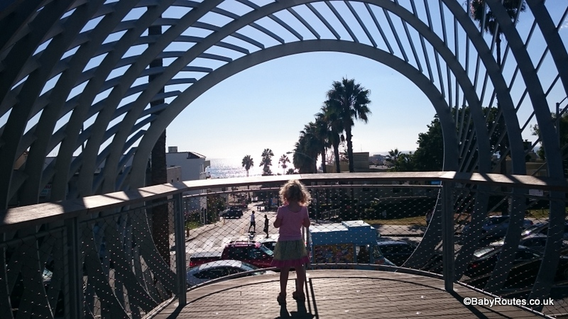 Child looking out from Tongva Park, 8 Fun Things to do with young children in Santa Monica