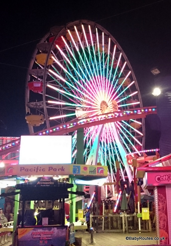Big Wheel at night, 8 Fun Things to do with young children in Santa Monica