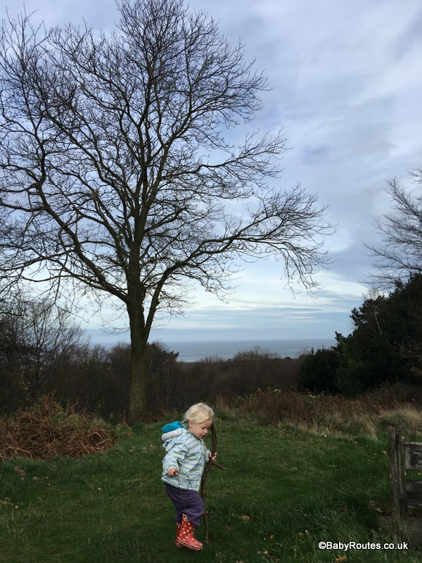 Sea view above West Runton, Norfolk Winter Weekend