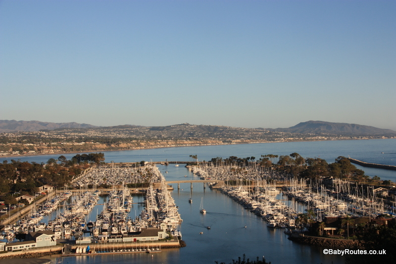 Looking down on Dana Point marina, Whale watching, Dana Point, California