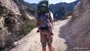 San Bernadino Mountains, California with a LittleLife Ultralight S3 Child Carrier