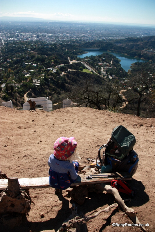 LittleLife Ultralight S3 Child Carrier Review, Enjoying the view from the summit of Mt. Hollywood