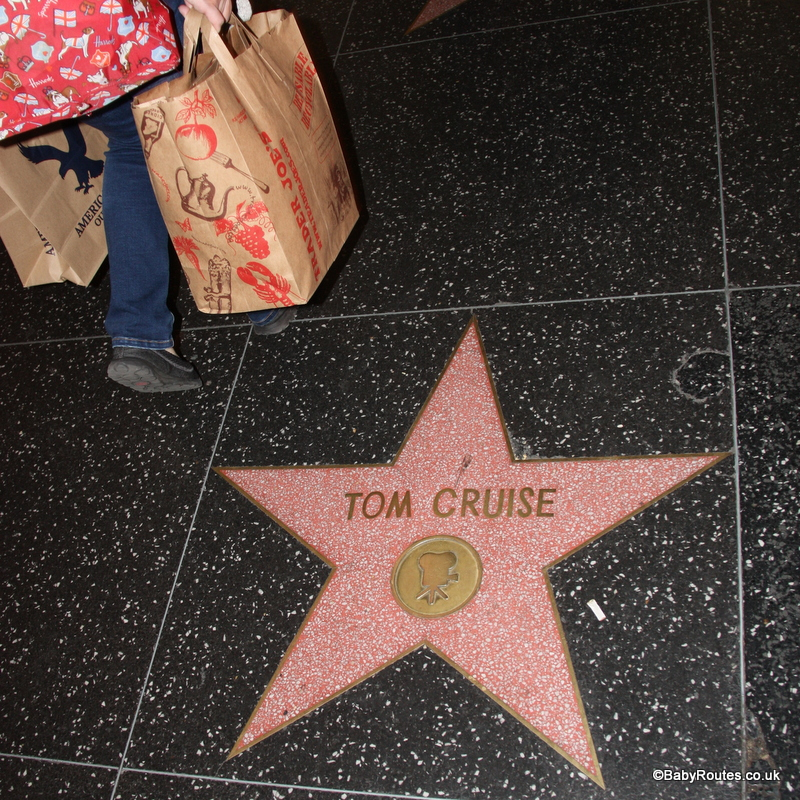 Tom Cruise on Walk of Fame, Hollywood, LA, California.