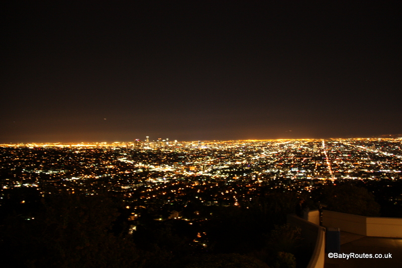 Night view of Los Angeles from Griffith Observatory, California, USA