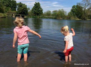 Paddling in the Thames, Sonning, Berkshire, UK