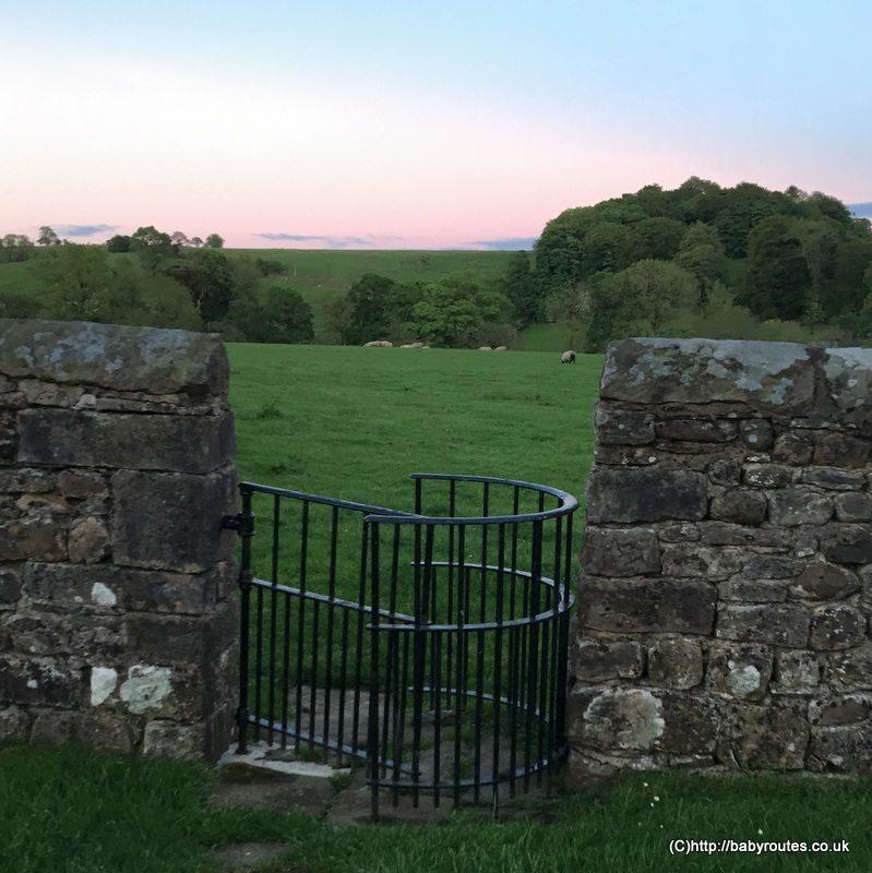 Kissing gate in St. Andrew's Churchyard,Slaidburn Easy Village Walk, Forest of Bowland, Lancashire