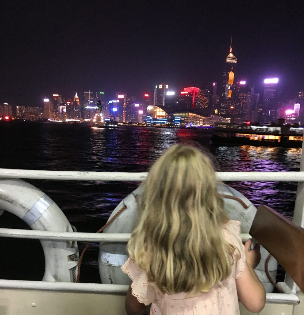 Star Ferry by night, Hong Kong