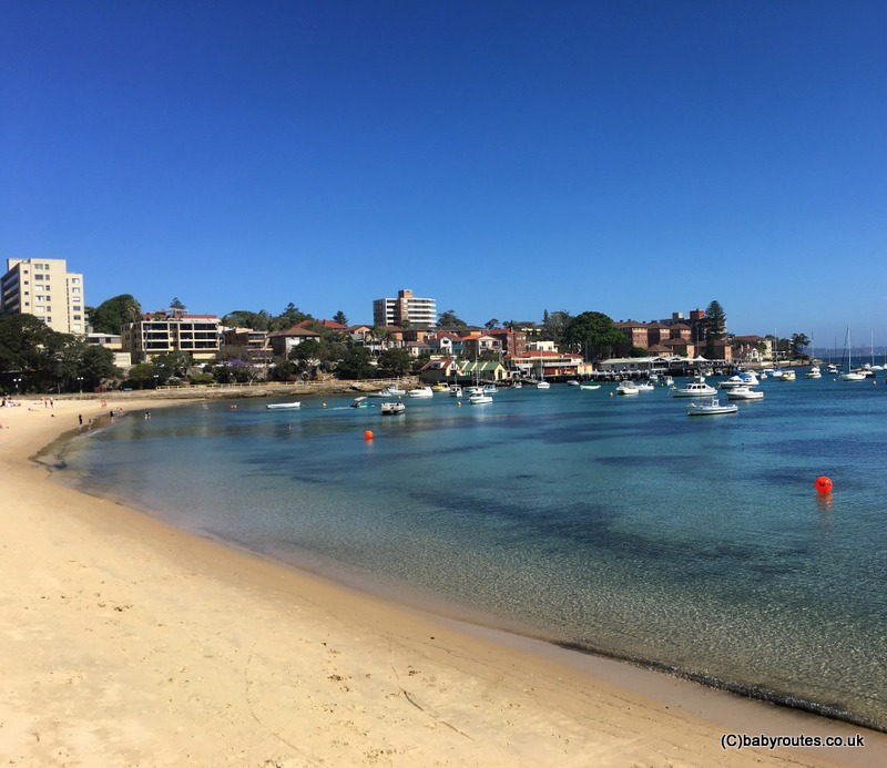 The harbour beach at Manly, Sydney, Australia