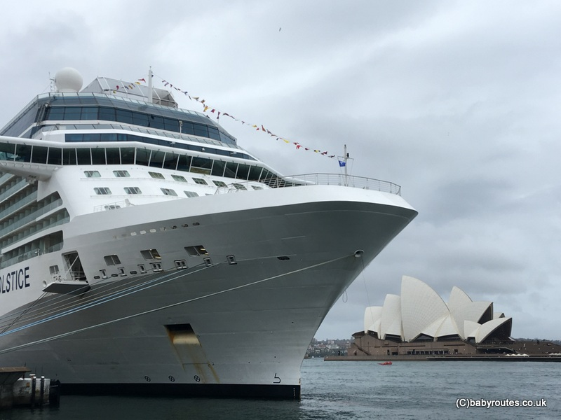 Sydney Opera House dwarfed by a cruise ship that arrived on our second morning in Sydney, Sydney Australia