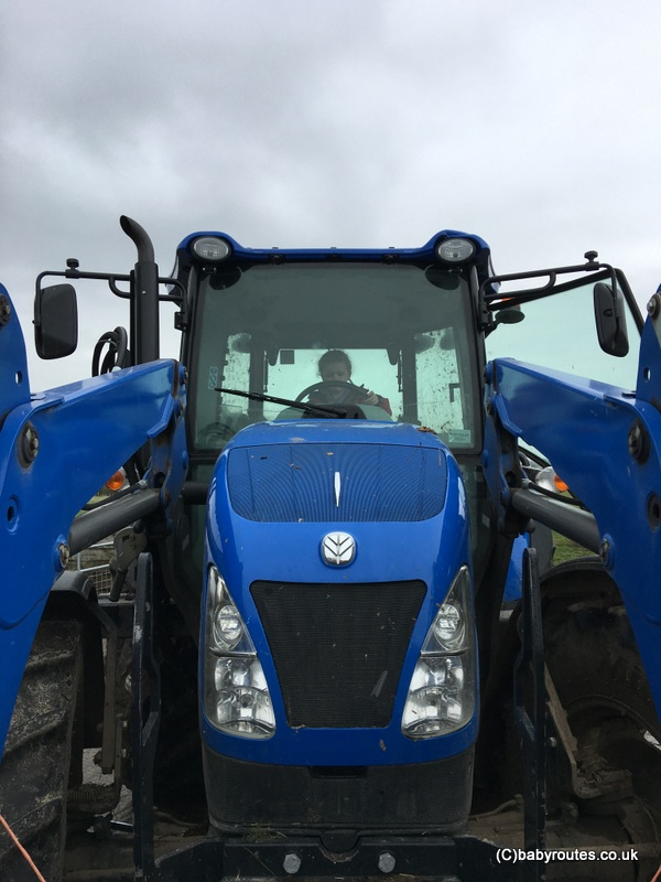 Tractors at Earth Trust, Lambing Weekend