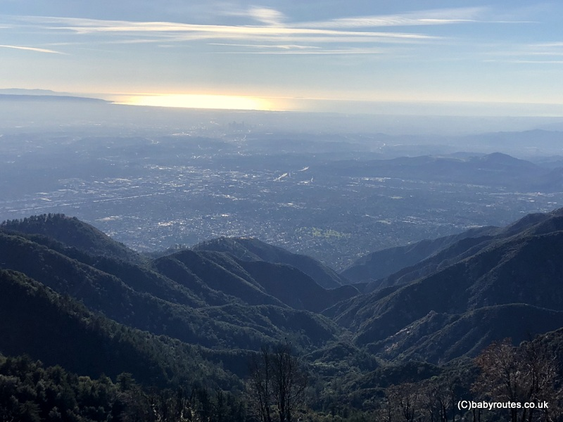 Los Angeles and the Pacific Ocean from Mount Wilson, California, USA